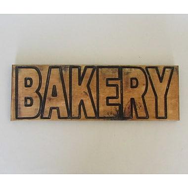 Established 98 Carved ''Bakery'' Wall Decor; Black