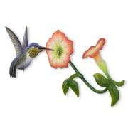 Novica Alejandro de Esesarte Hummingbird and Flowers Steel Wall Decor