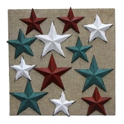 Wilco Home 12 Metal Star Magnet on Burlap Display Board Wall D cor