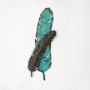 Wilco Home Stamped Metal Turkey Feather Sculpture Wall D cor