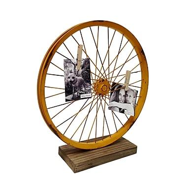 Wilco Home Metal Bike Wheel Table Art Sculpture