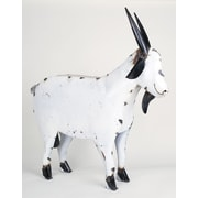 MyAmigosImports Large Recycled Metal Goat Figurine