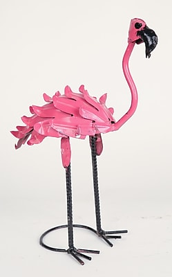 MyAmigosImports Recycled Flamingo Statue