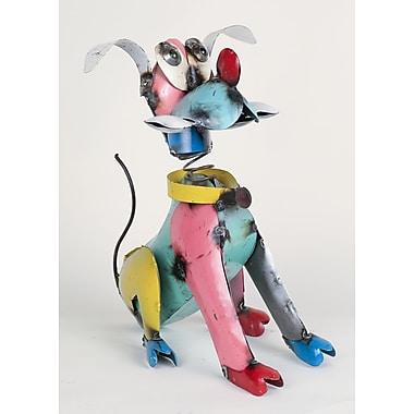 MyAmigosImports Small Recycled Metal Pluto Dog Figurine