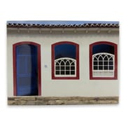 Novica Decorative Paraty House w/ Door Colonial Home Photo Collage on Wood