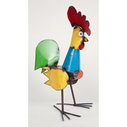 MyAmigosImports Small Recycled Metal Rooster Figurine