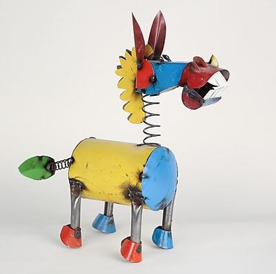 MyAmigosImports Medium Recycled Metal Springy Donkey Figurine