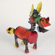 MyAmigosImports Mini Recycled Metal Springy Donkey Figurine