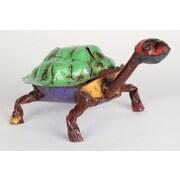 MyAmigosImports Medium Recycled Metal Turtle Figurine
