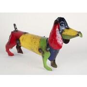 MyAmigosImports Small Recycled Metal Weiner Dog Figurine