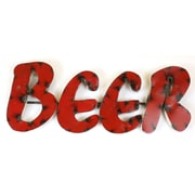 MyAmigosImports Small Beer Recycled Metal Sign Wall Decor