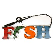 MyAmigosImports Fish Recycled Metal Sign Wall Decor