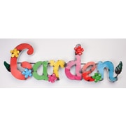 MyAmigosImports Garden w/ Flowers Recycled Metal Sign Wall Decor