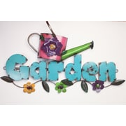 MyAmigosImports Garden w/ Pitcher Recycled Metal Sign Wall Decor