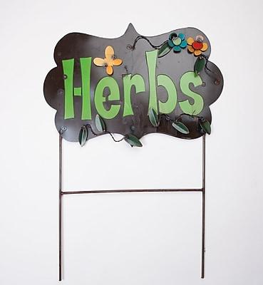MyAmigosImports Herbs Recycled Metal Sign Wall Decor