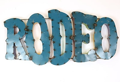 MyAmigosImports Rodeo Recycled Metal Sign Wall Decor