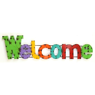 MyAmigosImports Welcome Recycled Metal Sign Wall Decor