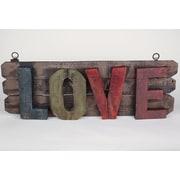 MyAmigosImports Rustic Wooden Love Sign Wall Decor