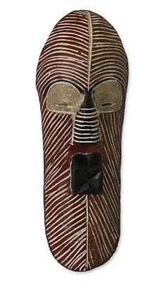 Novica Congolese Wood Mask Wall D cor