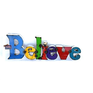 Rustic Arrow Large Believe Sign Wall D cor
