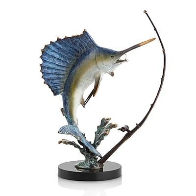SPI Home Fighting Sailfish w/ Tackle Figurine