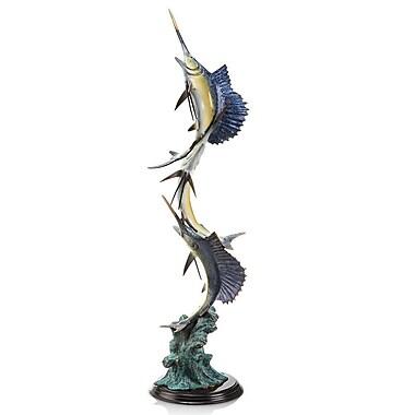 SPI Home Marlin and Sailfish Seascape Statue