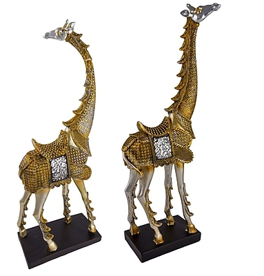 Red Vanilla 2 Piece Exotica Giraffe Figurine