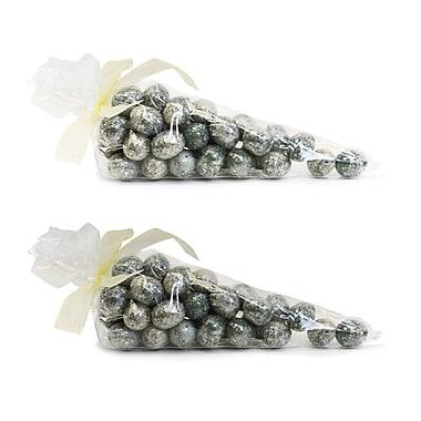 SheasWildflowers Mica Coated 36 Robin Eggs Per Bag Sculpture (Set of 2)