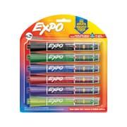 Expo – Marqueurs à pointe biseautée, à indication de niveau d'encre, couleurs variées, paq./6
