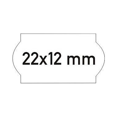 Meto – Étiquettes 822, blanches, 1 ligne, 1500/rouleau, 14 rouleaux/bte, (10003323)