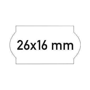 Meto – Étiquettes 2026, blanches, 2 lignes, 1125/rouleau, 12 rouleaux/bte, (10003402)