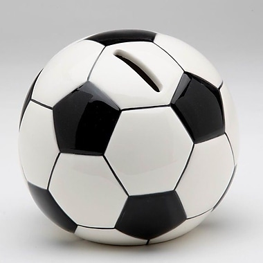 CosmosGifts Decorative Soccer Ball Piggy Bank