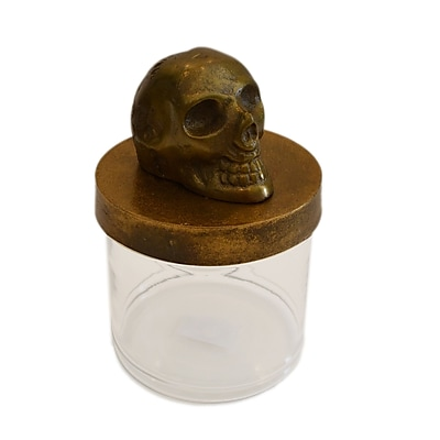 Rojo 16 Decorative Skull Jar; Raw Rustic