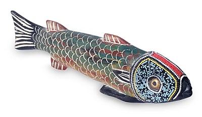 Novica Amulie Unique Wood Fish Figurine