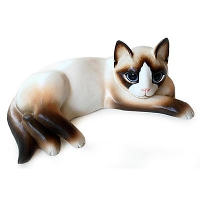 Novica Thoughtful Cat Figurine
