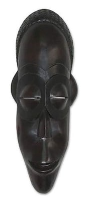 Novica Spirit of Wealth Angolan Wood Mask Wall D cor
