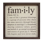 Stratton Home Decor Definition of Family Wall D cor