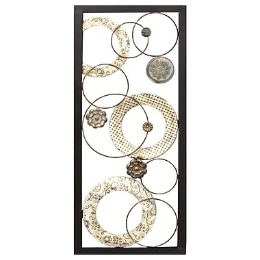 Stratton Home Decor Stamped Circles Panel Wall D cor