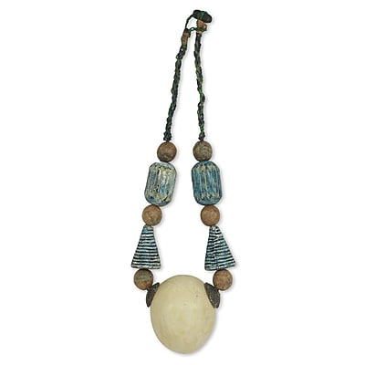 Novica African Heron Artisan Crafted Terracotta Beaded Wall D cor