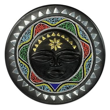 Novica Nsurumaa Beaded African Wall Plaque w/ Star Motif and Metal Accents Wall D cor