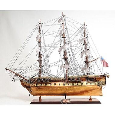 Old Modern Handicrafts Constitution Copper Bottom E.E Model Ship