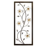 Stratton Home Decor White Blooming Floral Panel Wall D cor