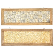 Urban Designs 2 Piece Cracked Mosaic Wooden Frame Wall D cor Set