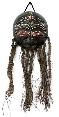 Novica Amicable Lizard Dried Gourd Mask Wall D cor