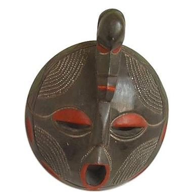 Novica Artisan Crafted Akan Tribal Wood Mask Wall D cor