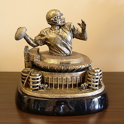 Tailgate Toss NFL Tim Wolfe Sculpture; New York Giants