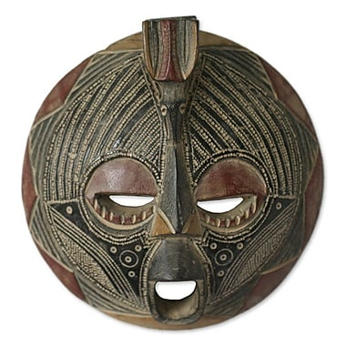 Novica Artisan Crafted Wood Mask Wall D cor