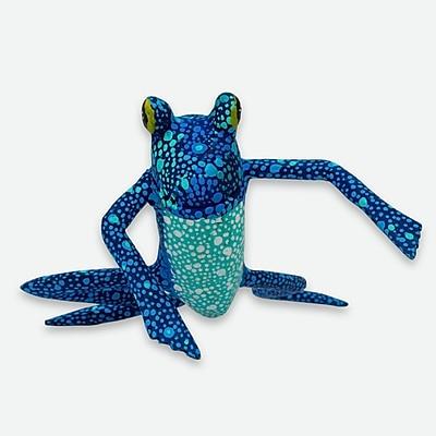 Novica Hand-Crafted Wood Alebrije Frog Figurine