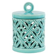 Urban Trends Ceramic Round Box; 9.5'' H x 6.5'' W x 6.5'' D