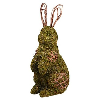 Silk Flower Depot Preserved Moss and Twig Bunny Figurine